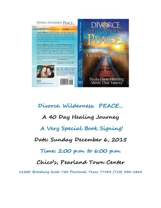 Chico's & DWP Book Signing flyer -112415